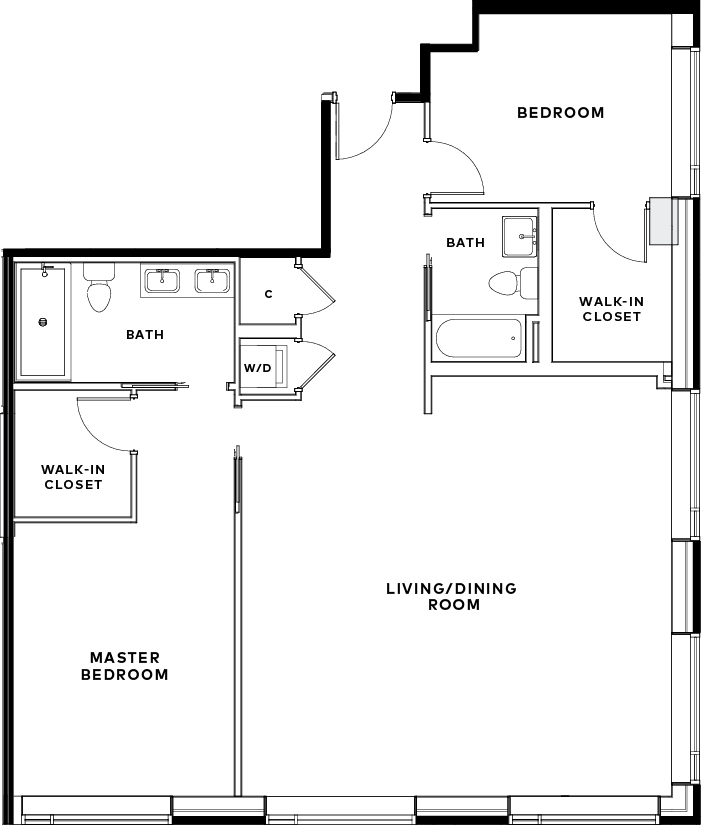 Rowan Unit 608 Floor Plan